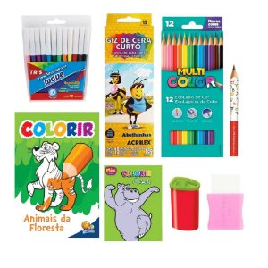 Kit de Desenho Kids 9 peças