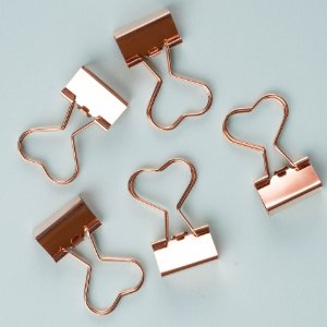 Binder Clips 25mm Rose Gold Molin 5un