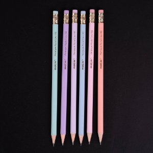 Lápis Preto HB n.2 com borracha Pastel Line Molin 6pc