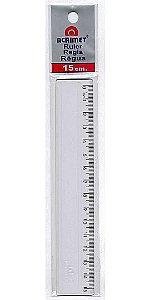 Régua Escolar Plástica Transparente 15cm Acrimet