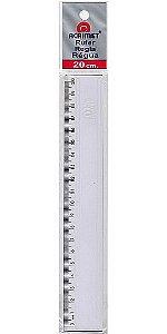 Régua Escolar Plástica Transparente 20cm Acrimet