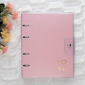 Caderno Argolado Fichário Pink Stone Ultra GM 6257-6