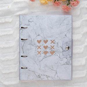 Caderno Argolado Fichário Pink Stone Ultra PVC MRM 6256-9