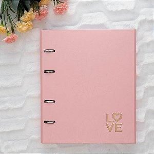 Caderno Argolado Fichário Pink Love 4501-2 Ótima Gráfica