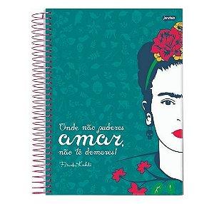 Caderno Universitário Espiral Capa Dura 1M Frida Kahlo 80 Folhas Jandaia