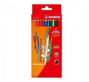 Lápis de Cor Stabilo Swano 12 cores