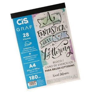 Bloco Livro de Exercícios para Brush Lettering Cis Graf