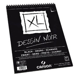 Bloco Desenho A4 XL Preto Design Noir Canson 150g 40fls
