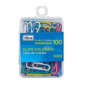 Clips Colorido 29mm caixa c/100 un Tilibra