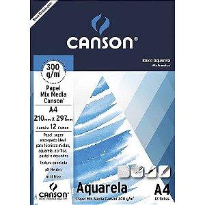Bloco Aquarela Canson 300g 12 folhas