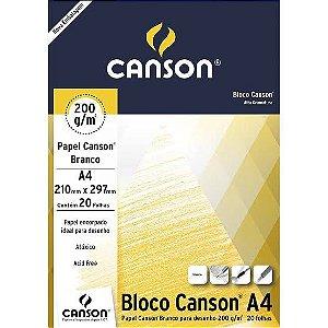 Bloco Papel Canson Branco 200g 20FL