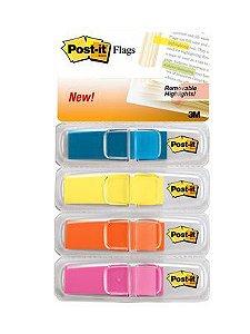 Post-it Flags Transparente 4 cores 3M 683-4ABX