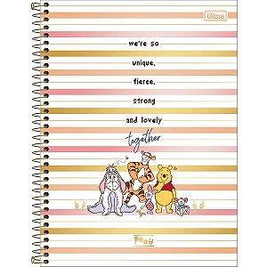 Caderno Universitário 10M Pooh 160 Folhas Tilibra