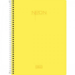Caderno Capa Plástica Pequeno 1/4 Neon 96 Folhas Tilibra