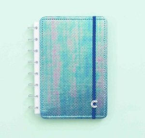 Caderno Inteligente A5 Azul Holográfico 80 Folhas