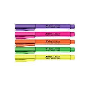 Kit Marca Texto Grifpen Faber-Castell Neon 5 cores