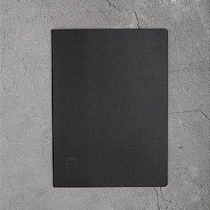 Caderno Papertalk Flex Pontilhado Preto 48 Folhas