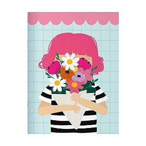 Caderno Pontilhado 13x18 60 páginas Me encanta que te encante