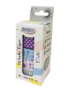 Washi Tape Cute BRW c/5 rolos