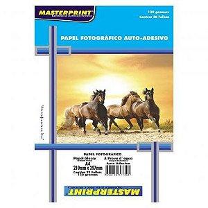 Papel Fotográfico Auto-Adesivo A4 130g 20Folhas Masterprint