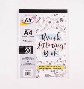 Bloco Brush Lettering Book 180g Kit