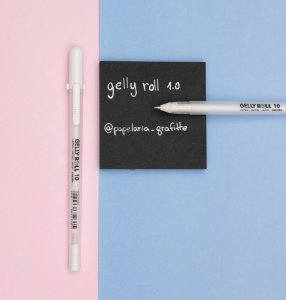 Caneta Gel Branca Gelly Roll Grossa 1.0 Sakura