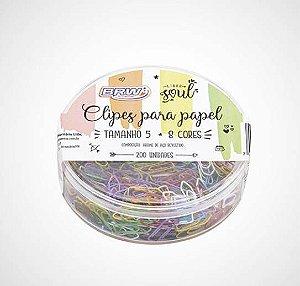Clips para papel BRW tamanho 5 colorido 200un