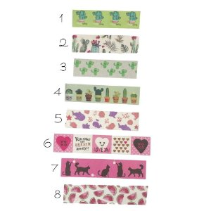 Washi Tape Decorada BRW Nature 1,5cm x 5m