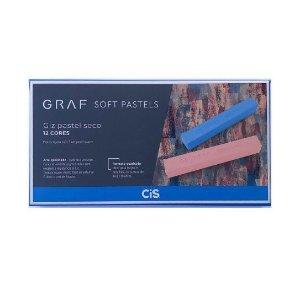 Giz Pastel Seco Cis Graf 12 Cores