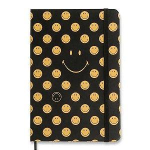 Caderneta Smiley Preta Pautada 14x21 Cicero
