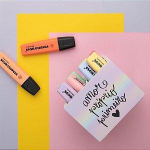 Porta Lápis Amor Próprio Primeiro 11x11x08 cm