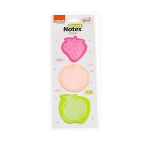 Bloco Adesivo Smart Notes Tokens Frutas c/3un 75 folhas BRW BA0300