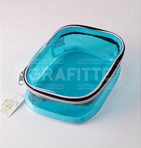Estojo Box Jumbo Transparente Color Fizz