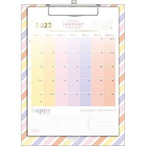 Calendário Planner Prancheta Happy 2022 Tilibra 31233