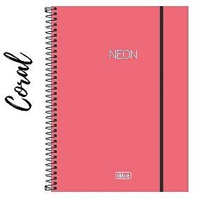 Caderno Universitário Neon 1 Matéria 80 Folhas Tilibra