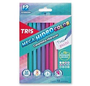 Caneta Hidrocor Tons Pastel Tris 12 cores