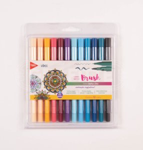 Caneta Brush Pen Boho Chic Tris 12 cores