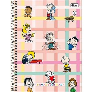 Caderno Universitário 10M Snoopy 160 Folhas Tilibra