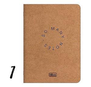 Caderneta Grampeada Flexível Kraftwork 32 Folhas Tilibra