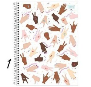 Caderno Espiral 1/4 Oh My God! 80 Folhas
