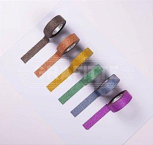 Fita Adesiva Washi Tape Glitter 15mmX10m Tilibra Novas Cores