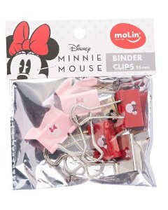 Binder Clips Minnie 25mm Molin 6un