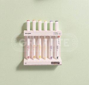 Caneta NewPen Ginza Pro Fine 6 cores