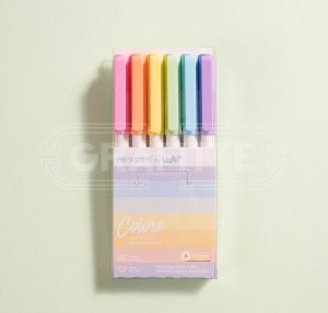 Canetinhas Hidrográficas Colore 6 cores Newpen by Uatt