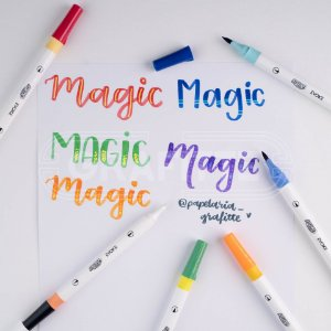 Marcador Dual Magic Brush Pen 6 cores BRW
