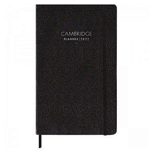 Planner Costurado Cambridge Preto 90g 2022 29092 Tilibra