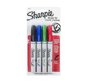Estojo Brush Pen Permanente c/4 Sharpie