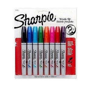 Estojo Brush Pen Permanente c/8 Sharpie