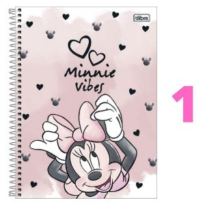 Caderno Espiral Universitário 10M Minnie 160 Folhas Tilibra