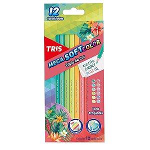 Lápis de Cor MegaSOFT Color Tons Tropicais TRIS